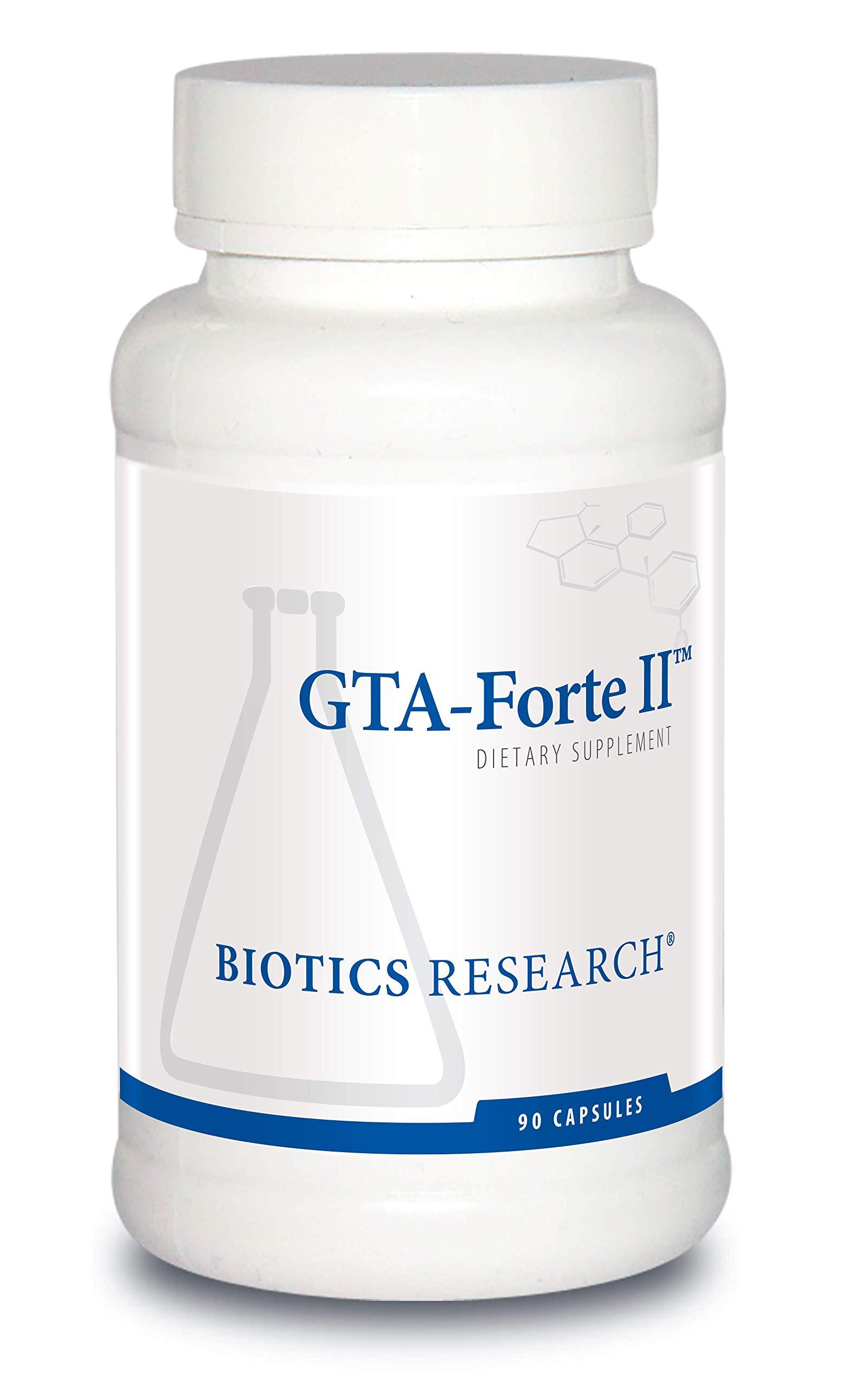 Biotics Research GTA Forte II Endocrine Glands Support, Promotes Optimal Hormonal Balance. Contains Porcine Glandular, Phytochemically Bound Trace Elements Zinc, Selenium, Copper, Rubidium 90 Caps
