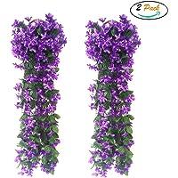 FUJIE 2 Piezas Artificiales De Colgantes Plantas Simulation
