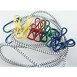 2 er Set Flexible Wäscheleine mit je 8 beschichteten Klammern, 190-240cm , iapyx®