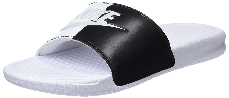 Women's Nike Benassi Just Do It Slide Sandal B07CZF7M8Z 9 B(M) US|White/Pure Platinum-black