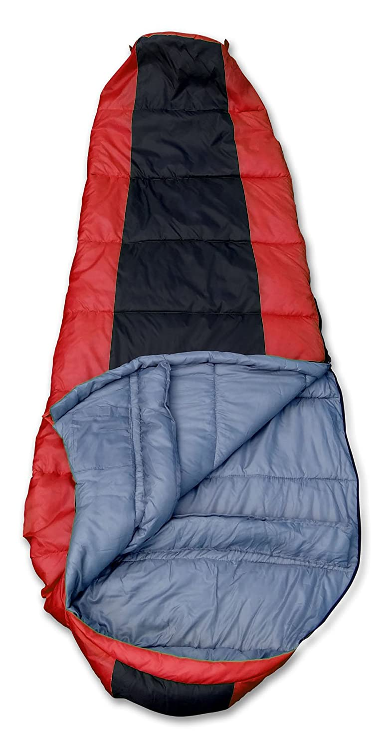 GigaTent Camping Mummy Sleeping Bag Ultra Soft and Light, Weatherproof, Flame Resistant – 35 Degree – 3 Season Insulation and Heat Retention – 33 x 80 – Reversible Bag Doubles as Comforter