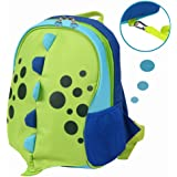 Yodo Playful Kids Lunch Boxes Carry Bag or Preschool Toddler Backpack, with Safety Harness Rein, Insulated Lining inside, Dinosaur