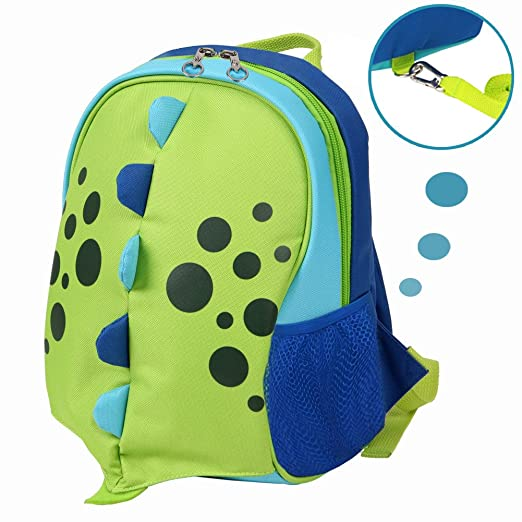 Yodo Upgraded Playful Kids Insulated Lunch Boxes Carry Bag / Preschool Toddler Backpack, with Safety Harness Leash and Name Label, Dragon