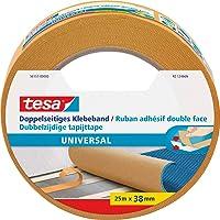 tesa Dubbelzijdig plakband universeel - veelzijdig plakband voor verpakkingen, decoratie en tapijten of om te knutselen…