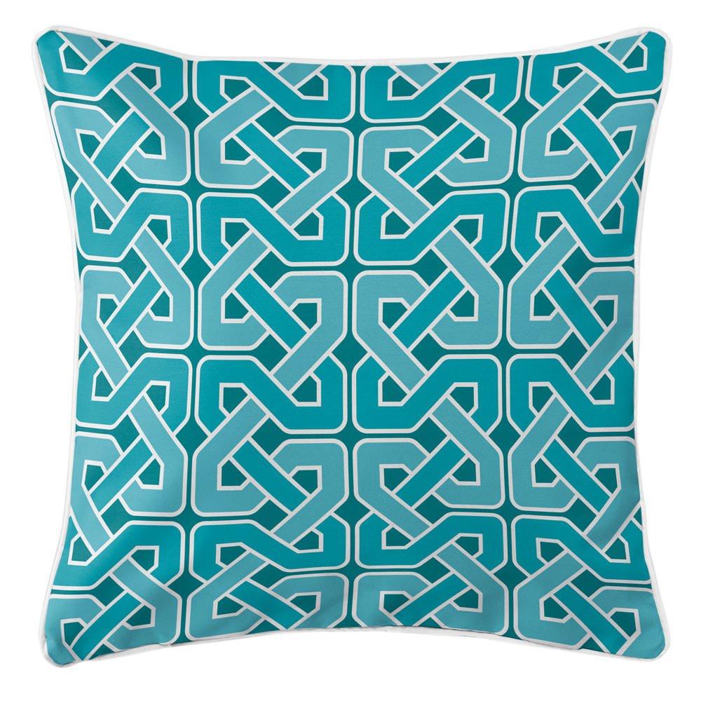 Island Girl Home IGH-P188 Nassau - Spa Day Pillow,Aqua/Teal/Turquoise/White,20x20