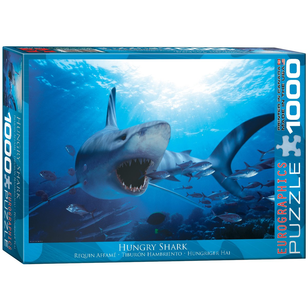 EuroGraphics Hungry Shark 1000 Piece Puzzle