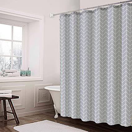 Image Unavailable Not Available For Color Dolii Chevron Grey Shower Curtain Liner