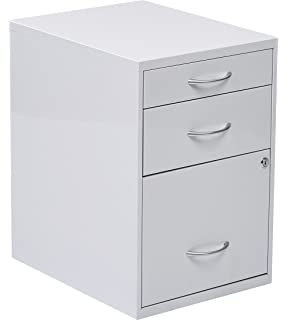 office star 3drawer metal file cabinet white finish