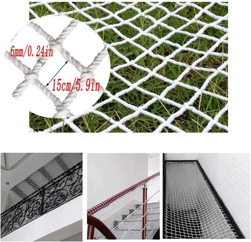 セーフティネット 子供用階段落下防止ネット/セーフティネット - 庭用装飾ネットホワイトナイロンネットネットバルコニーセーフティネット障害物ネットキャットネットグリッド間隔15cm テラスバルコニー保護ネット (Size : 4*8m)  4*8m