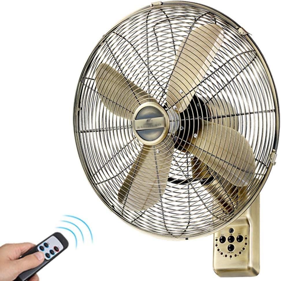 LAZ Ventilador Retro Antiguo de Pared con Extractor de Control Industrial Pared Fan oscilante Remoto