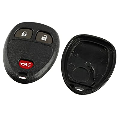 Key Fob Keyless Entry Remote Shell Case & Pad fits Buick/Chevy Avalanche Equinox Express Silverado Traverse/GMC Sierra/Pontiac Torrent: Automotive