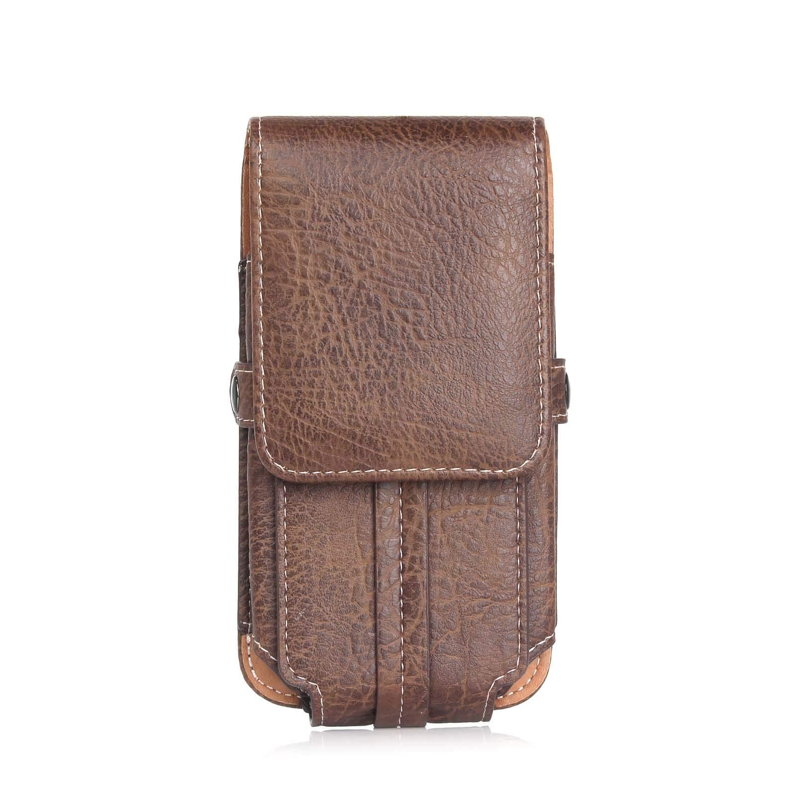 Maxlight Waist Packs Men for Blackview BV9000/ BV9000 Pro Belt Loop Clip Leather Pouch for Blackview BV9500 BV9600 BV6800 Bag Phone Bags (Dark Coffee, 6.3 inch) by Maxlight