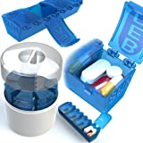 4Thought Products 7 Day Med Manager, High Quality, Durable Pill Organizer, Countertop Pill Planner