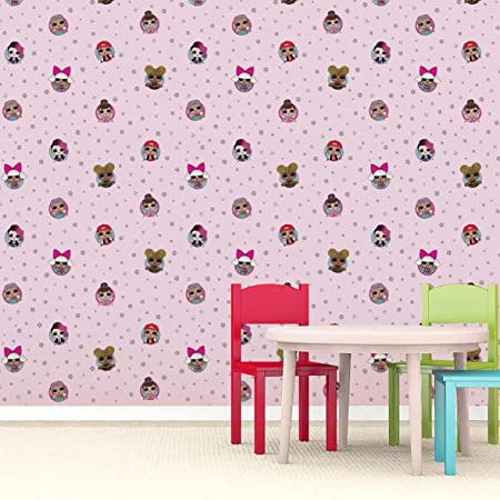 Debona LOL Surprise Dolls Childrens Star Girls Bedroom Baby Pink Wallpaper WP4 FRD