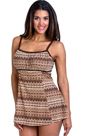 9265704135 It Figures Bahama Mama Peasant Lingerie Swimdress Size 10 at Amazon ...