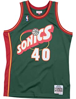 78567868529f Mitchell   Ness Shawn Kemp 1995-96 Seattle Supersonics Green Swingman Jersey