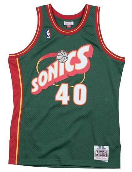 Mitchell   Ness Shawn Kemp 1995-96 Seattle Supersonics Green Swingman Jersey  (4X- b6e3f1899c10
