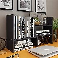Desktop Organizer Office Storage Rack, Astory Adjustable Wood Display Bookshelf Desk Organizer Office Supplies…