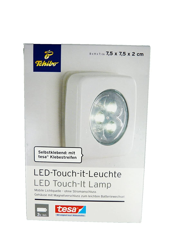 TCM Tchibo LED Touch IT Lampe Selbstklebend Mobile Leuchte Ohne Strom:  Amazon.de: Küche U0026 Haushalt