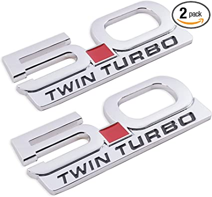 2 X Silver 5.0 COYOTE Emblem Sticker Decal Fender Tailgate Ford Mustang F-150