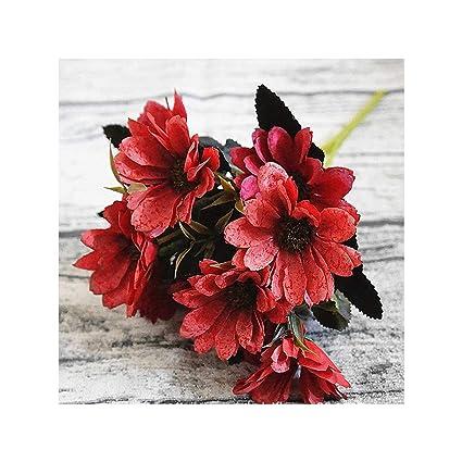 Bouquet Sposa Natale.Kenfandy 10heads 1bundle Seta Della Margherita Bouquet Sposa Per