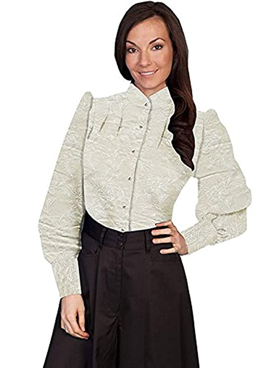 Victorian Blouses, Tops, Shirts, Sweaters Scully Western Shirt Womens Long Sleeve Old Fashioned Button 741390 $58.99 AT vintagedancer.com