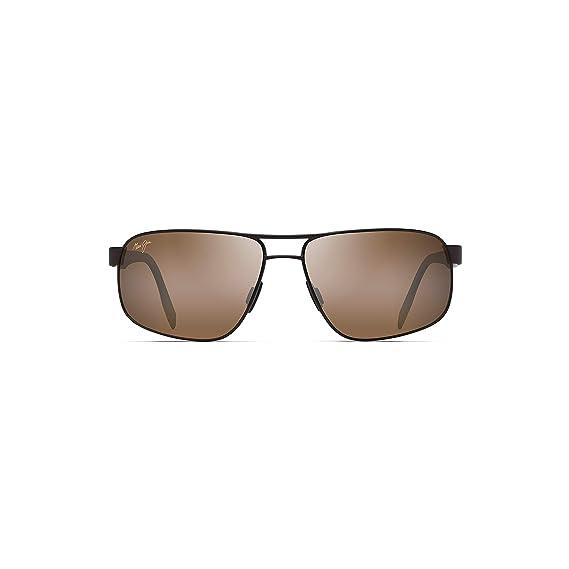 c6af3e2a5d0 Maui Jim H776-01M 10M Satin Chocolate Whitehaven Square Pilot Sunglasses  Polari  Amazon.co.uk  Clothing