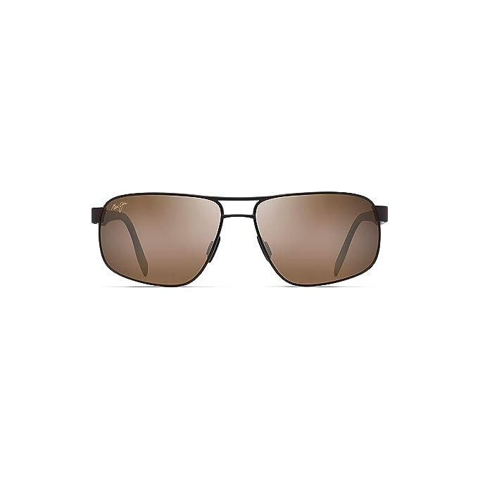e068026d0ea Maui Jim H776-01M 10M Satin Chocolate Whitehaven Square Pilot Sunglasses  Polari: Amazon.co.uk: Clothing