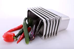 Hakka 1/3 Size Stainless Steel Food Pans,6