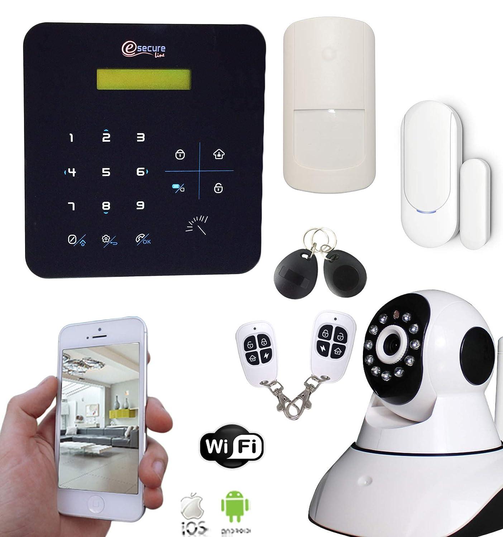SecuriteGOODdeal-Alarma inalámbrica GSM y wi-fi A9-Cámara IP giratoria, apartamento T2, T3