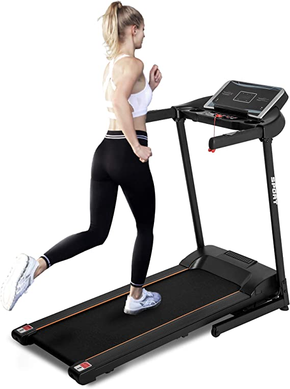 NOB 2.0HP Electric Treadmill Motorized Running Machine Large with 16'' Wide Tread Belt
