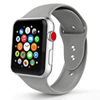 iYou for Apple Watch Strap 38mm 42mm, Soft Silicone Band for iWatch Series 3/2/1