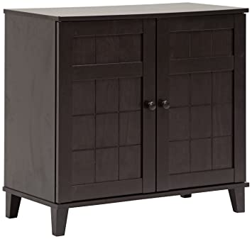 Amazon.com: Baxton Studio Glidden Wood Modern Shoe Cabinet, Short ...