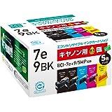 エコリカ キャノン(Canon)対応 リサイクル インクカートリッジ 4色セット BCI-7E+9/5MP (目印:キャノン7e/9) ECI-CAMP500/BOX