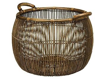 KOUBOO Large Open Weave Rattan Storage Basket