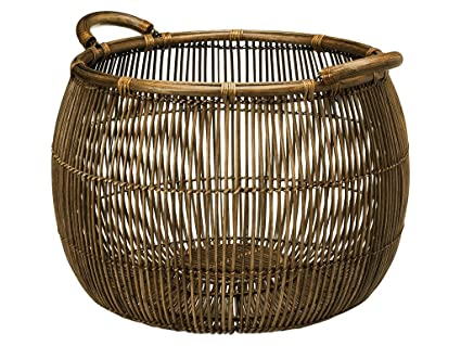 Superbe KOUBOO Large Open Weave Rattan Storage Basket