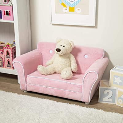 Melissa & Doug Child's Sofa - Pink Plush Children's Furniture: Toys & Games