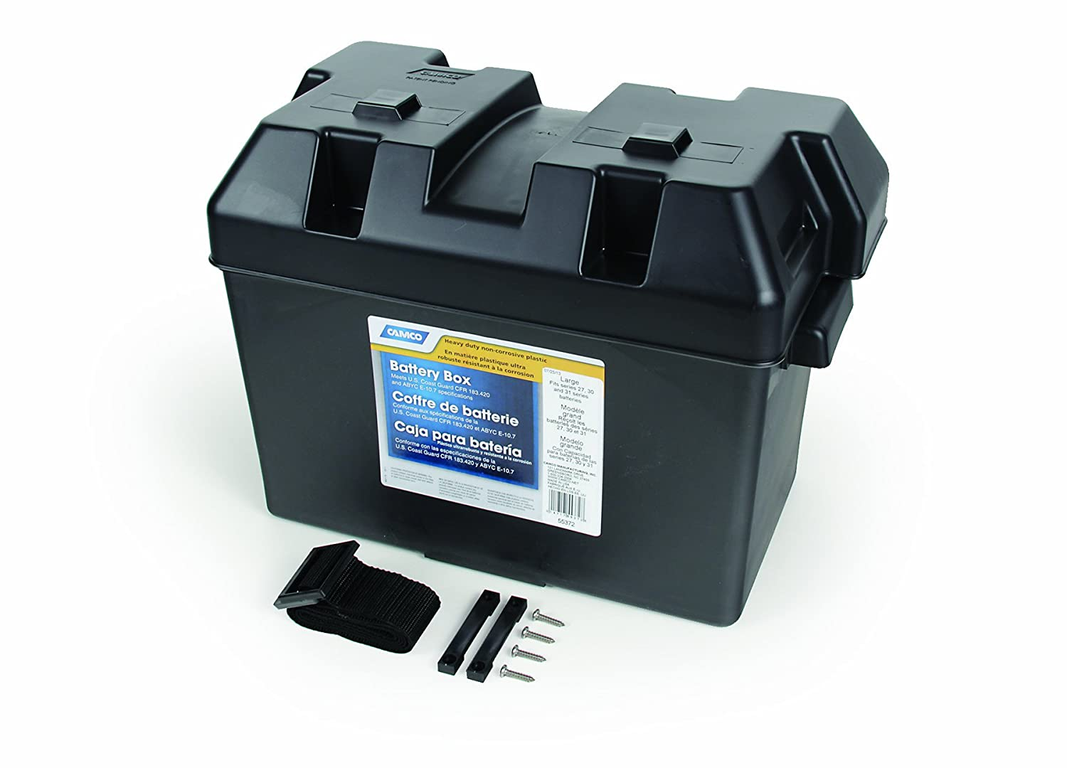 Camco 55362 Standard Battery Box Group 24 Automotive Wiring Diagram Besides Rv Trailer Further