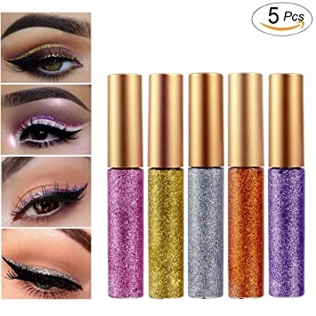 Eye Shadow Beauty & Health Nice Pigment Silver Rose Gold Color Liquid Cosmetics For Women Professional New Shiny Eye Liners Glitter Eyeliner Cheap Makeup Making Things Convenient For The People