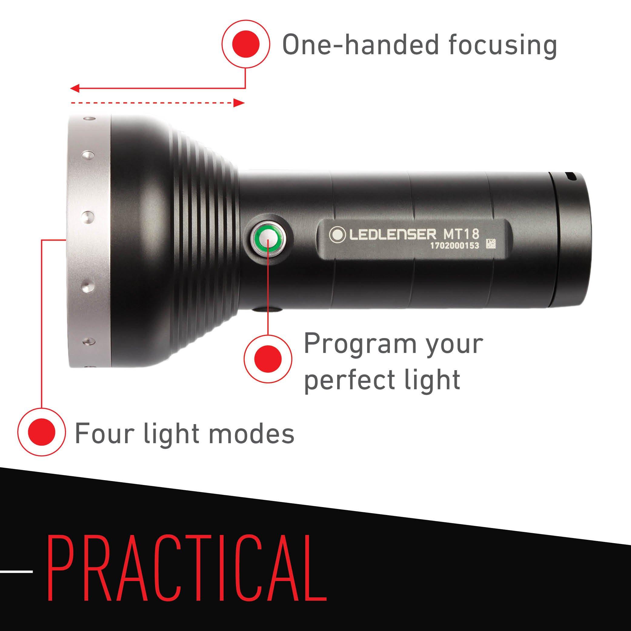 Led Lenser - 3000 Lumens, MT18 Flashlight with Rapid Focus System by LED Lenser (Image #4)