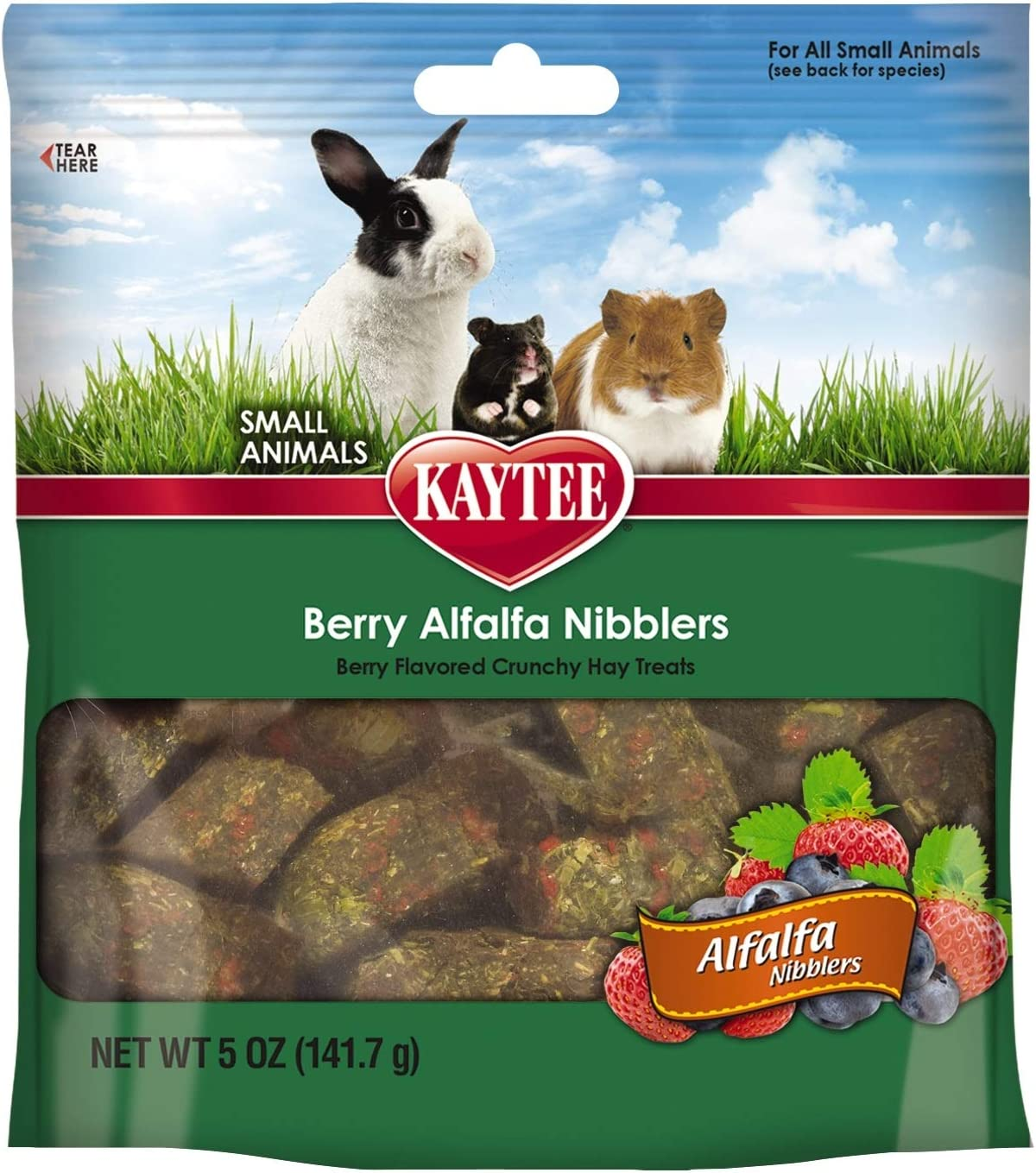 Kaytee 3 Pack of Nibblers Berry Small Animal Treats,