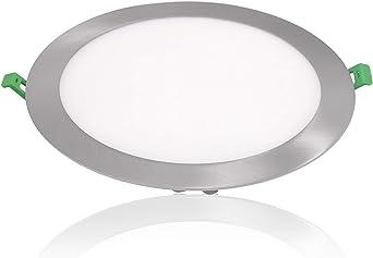 Placa LED SuperSlim Redondo 20W Downlight LED Color Neutro Marco ...