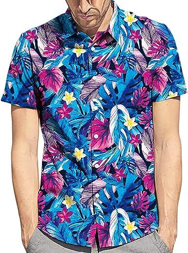 Hombre Camisas Bohemios 3D Multicolor Estampados Hawaianas Manga ...