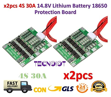 4S 50A Li-ion Lithium 18650 Battery PCB Protection Board cell Charging Balance