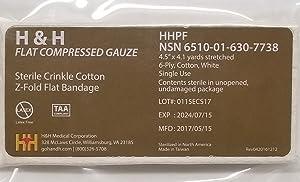 H&H Flat Compressed Gauze