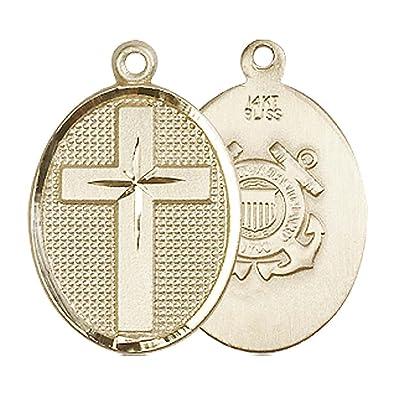 14kt Gold Cross Medal