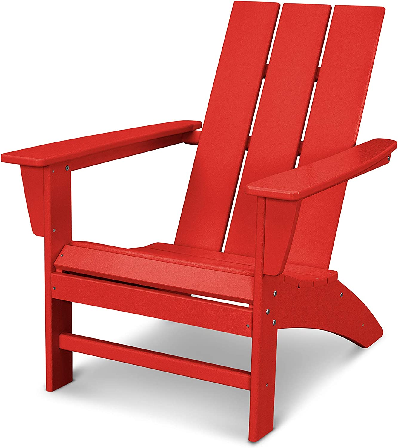 POLYWOOD AD420SR Modern Adirondack Chair, Sunset Red