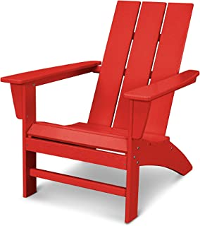 product image for POLYWOOD AD420SR Modern Adirondack Chair, Sunset Red