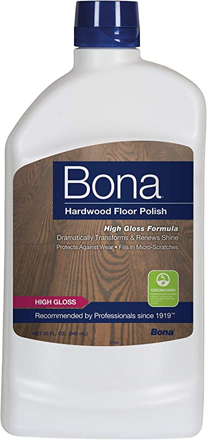 Amazon Com Bona Hardwood Floor Polish High Gloss 32 Oz Prime