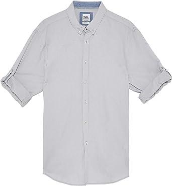 Zara 7545/402/804 - Camisa para Hombre Gris Gris XL: Amazon ...